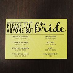 File Under: Why you need a wedding stage manager. ☎️  by @smittenchickens #dontcallme