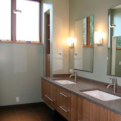 Undermount Sink Rectangle Design - Latitude door levers in satin chrome would look perfect in this bathroom. http://consumer.schlage.com/Products/Pages/ProductDetails.aspx?ModelNumber=F10%20ACC%20619%20CEN