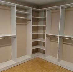 Basic design with radius corner shelves for a seamless look. Built In Wardrobe Designs, Wardrobe Interior Design, Wardrobe Design Bedroom, Master Bedroom Closet, Closet Designs, Corner Wardrobe, Wardrobe Room, Closet Renovation, Closet Remodel