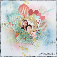 An absolutely gorgeous layout for 2Crafty Chipboard.  Lots of hearts cause it's for Valentine's Day. Do check out my blog link for more details. http://growingwithgabriel.blogspot.sg/2016/02/you-make-me-happy-when-skies-are-grey.html