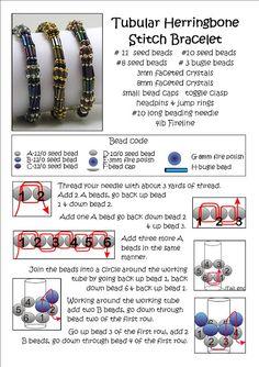 Bead Mavens: Tutorial Tubular Herringbone schema 1