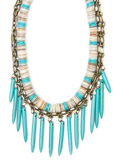 MANGO TOUCH - Necklace another find to compliment a tangerine outfit to party on Fashion Friday @ Kue Bar this week