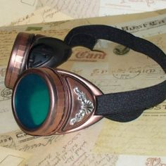Embellished Copper Steampunk Goggles