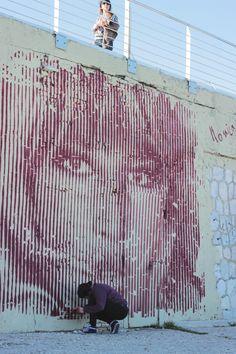 Icks Murale Monica Vitti </br>Lanterna Rossa Ancona - Foto Mattia Vecchietti