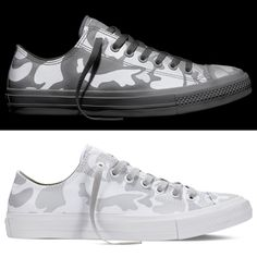 Converse Chuck Taylor All Star II Reflective Camo white on white!