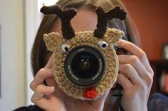 Rudolph Camera Lens Buddy, Reindeer, Rudolph the Red Nosed Reindeer, Christmas on Etsy, $12.00