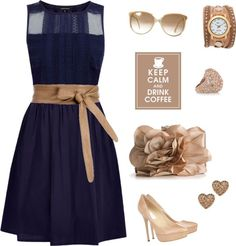 """""""Navy and nuetral"""" by shellyb306 ❤ liked on Polyvore"""