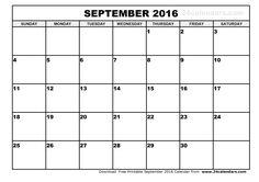 2016 calendar september september 2016 calendar template