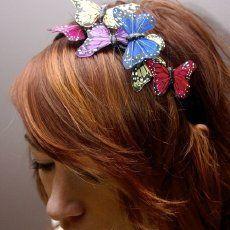 butterflies in hair