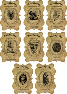 Halloween-steampunk-apothecary-bottle-stickers-set-of-8-scrapbooking-crafts