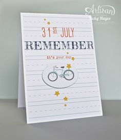 Stampin' Up's Words of Truth stamp set covers all those tricky teen cards! Just add a personalised date and a badge reflecting their interests - Vicky Hayes