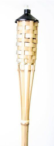 "Sierra JTBM2351 60-Inch Basket Weave Bamboo Torch by Sierra. $13.43. Creates a ""Warm Glow"" atmosphere in your backyard. 60"" basket weave bamboo torch. Ideal for outdoor parties and celebrations. Natural mosquito repellent. Bamboo torch. 60"" Basket Weave Bamboo Torch, Natural mosquito repellent,Creates a ""Warm Glow"" atmosphere in your backyard,Ideal for outdoor parties and celebrations."