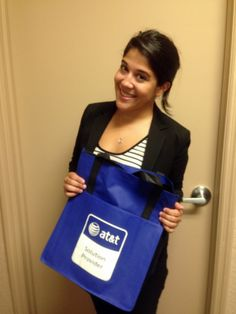Connie getting gifts from the client for her promotion!