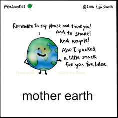 Love your mama Food Puns, Food Humor, Beer Puns, Happy Comics, Funny Puns, Funny Food, Say Please, Mother Earth, Cute Cartoon