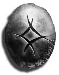 THIS NEEDS TO GO ON MY WEDDING RING FINGER!   Viking rune inguz can be interpreted as meaning love, harmony, fertility, milestones and new beginnings... Germanic rune ingwaz (the earth god) can be interpreted as fertility, gestation, internal growth, family love, caring, human warmth, the home, a time of relief, of no anxiety.