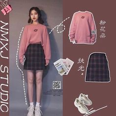 Korean Girl Fashion, Korean Fashion Trends, Korean Street Fashion, Ulzzang Fashion, Cute Fashion, Asian Fashion, Look Fashion, Korean Outfit Street Styles, Korean Outfits