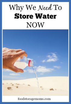 Why We Need To Store Water NOW. So true. We love the new AquaBrick Water Filtration System coming soon from Sagan Filters. Coming summer 2015 http://www.coldstreamindustries.com/