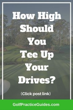 How high should you tee your drives? This is an important question because tee height can impact your golf shot more than you realize. *** For more information, visit image link.