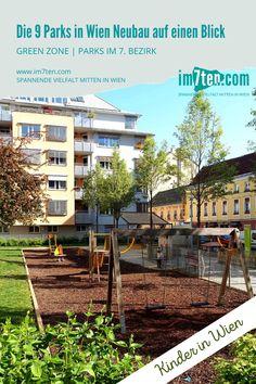 """Das Wort """"Beserlpark"""" zählt zu den ur-typischen Wiener Begriffen. Gemeint war damit ursprünglich der 1860 angelegte Park am Franz-Josefs-Kai, den die WienerInnen auf Grund seiner dürftigen Bepflanzung spöttisch als """"Beserlpark"""" bezeichneten. Heute meint man damit vor allem kleine, städtische Parks, deren Größe nicht über die Fläche eines Häuserblocks hinausgehen und meist von Gebäuden umzingelt sind. Wenn man es recht bedenkt: Zwei Drittel der Parks am Neubau sind  solche Beserlparks… Green Zone, Parks, Blog, New Construction, Planting, Blogging, Parkas"""