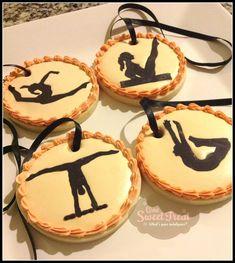 #Cookies - Medal cookies for my daughter's gymnastics meet by OneSweetTreat.com