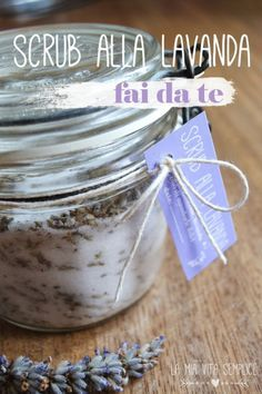 Scrub alla lavanda fai da te - Homemade lavender salt scrub