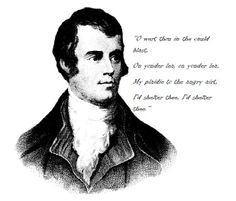 Rabbie Burns: Help out your neighbour in winter.