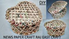 How to make newspaper box | jewelry box | DIY | newspaper craft