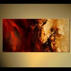 Original abstract art paintings by Osnat - red modern painting
