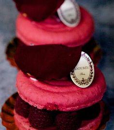 Rose macarons from Laduree in ...  GAY PAIR-EEEE! :)