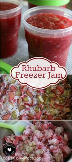 Rhubarb Freezer Jam - You are only 3 ingredients away from the BEST homemade jam you will ever make. This Rhubarb Freezer Jam goes together in a snap and is SO delicious! Rhubarb Freezer Jam, Rhubarb Jelly, Pickled Rhubarb, Rhubarb Sauce, Strawberry Rhubarb Jam, Can You Freeze Rhubarb, Rhubarb Marmalade, Rhubarb Preserves, Rhubarb Butter