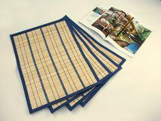 Eco Home Bamboo Splice Table Mat (Blue)
