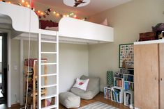 Loft over door (and she rigged up a pulley for a toy elevator!)