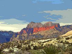 'Red Rock in Nevada-USA' von Dirk h. Wendt bei artflakes.com als Poster oder Kunstdruck $18.03