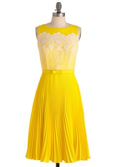 Lemon Amour Dress via ModCloth $419, this is SO cute too bad the price is way out of my budget. :(