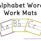 Freebie! These alphabet mats are great for alphabet word work activities during center times.  Students use the mats and other materials to practice letter ...
