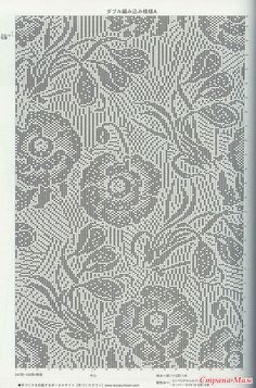 * Loin blouses - all in openwork . (crochet) - Home Moms Filet Crochet Charts, Tunisian Crochet, Knitting Charts, Knitting Patterns, Knit Crochet, Crochet Patterns, Patron Crochet, Bruges Lace, Fillet Crochet