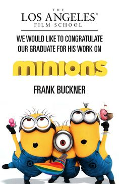 Recording Arts grad worked on Minions