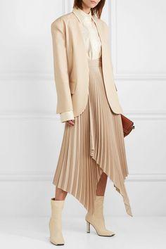 Beige wool-blend Slips on wool, elastane Dry clean Blazer Fashion, Fashion Outfits, Womens Fashion, Silk Dress, Dress Up, Blouse Dress, Prom Dress, Wedding Dress, Cream Blazer