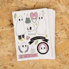 Awesome sticker sheets for Lize Meddings / Sad Ghost Club! http://thesadghostclub.tumblr.com  Like it? Pin it!