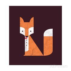 The Sly Fox Impressão giclée
