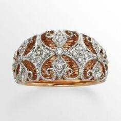 Diamonds & Lace ring <3
