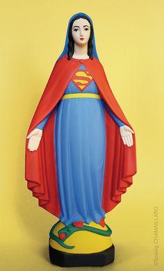 Soasig Chamaillard | Détournement Statue Sainte Vierge | Super Marie | Nantes et Paris - Contemporary sacred art | CoSa
