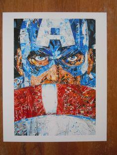 Recyclart of Captain America