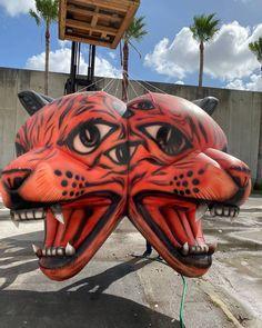 Creative custom pieces broughtThe @faena Inferno to life! 2 Instagram, Lion Sculpture, Statue, Creative, Life, Art, Art Background, Kunst, Performing Arts