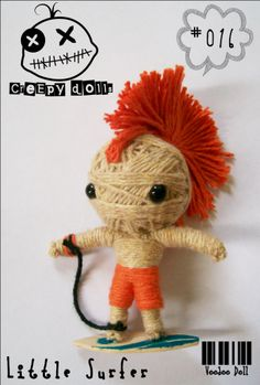 Little Surfer #016 String Doll / Voodoo Doll