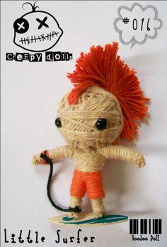Little Surfer #016 String Doll / Voodoo Doll