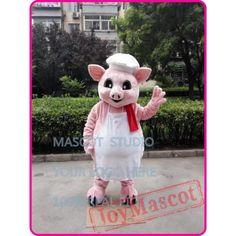 Pink Pig Chef Mascot Costume Cartoon Anime Cosplay