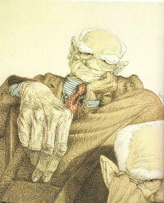 Alberto Moravia (Caricatura di Tullio Pericoli)
