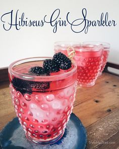 Easy pitcher cocktail for a crowd: Hibiscus Gin Sparkler
