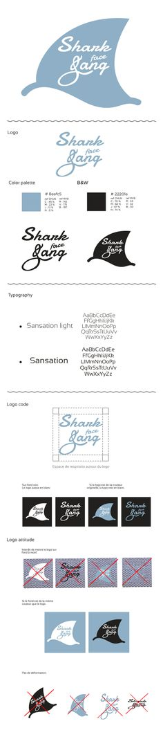 Graphical chart / Shark face gang / school project / Dummy / Logo code. Sarah Lehen.